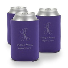 Purple Personalized Can Holder