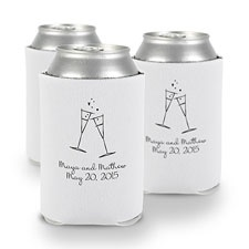 White Personalized Can Holder