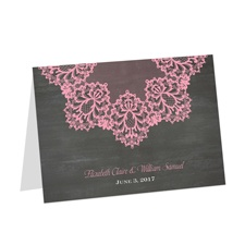 Chalkboard Lace Thank You Card