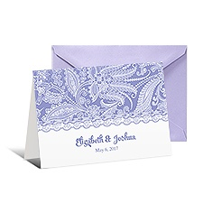 Custom Lace Thank You Card