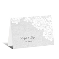 Shapely Lace Wedding Thank You Card