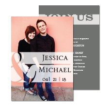Modern Touch Photo Wedding Invitation