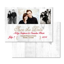 Rustic Charm Photo Save the Date