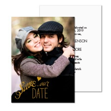Treasured Moments Foil Photo Save the Date