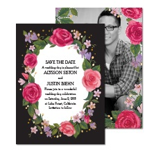 Just Rosy Foil Photo Save the Date