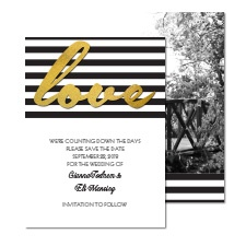 Dazzling Love Photo Save the Date