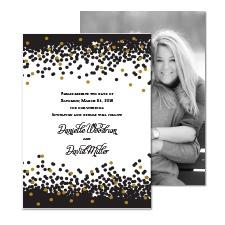 Sparkling Confetti Foil Photo Save the Date