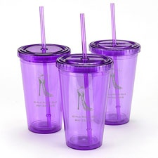 Purple Personalized Tumbler