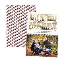 Merry Typography Foil Photo Holiday Card