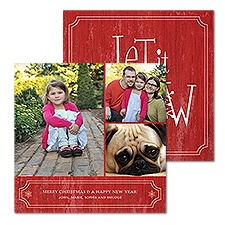 Rustic Red Photo Holiday Card