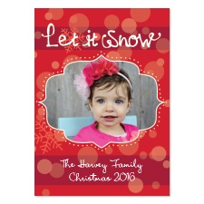 Snowy Red Photo Holiday Card
