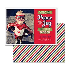 Retro Banners Photo Holiday Card