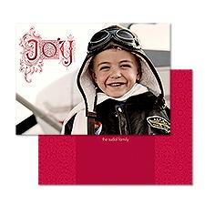 Vintage Joy Foil Photo Holiday Card