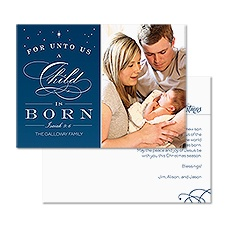 Holy Child Foil Photo Holiday Card