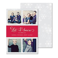Welcome Snow Photo Holiday Card