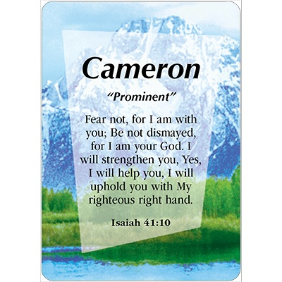 Cameron Name Card Male Daydream Cards
