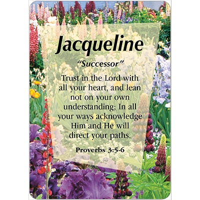 Jacqueline Name Jacqueline Name Card Female