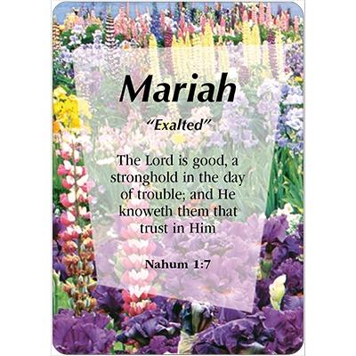 MARIAH Name Card Female   DayDream Cards