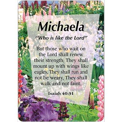 Michaela Name Michaela Name Card Female