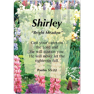 SHIRLEY Name Card Female | DayDream Cards