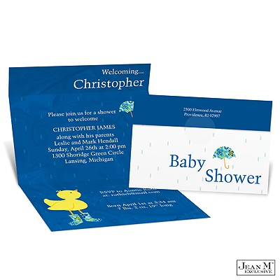 baby kids shower invitations ducky seal and send baby shower