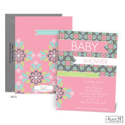 home baby kids shower invitations little petals baby shower