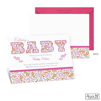 home baby kids shower invitations baby swirls baby shower
