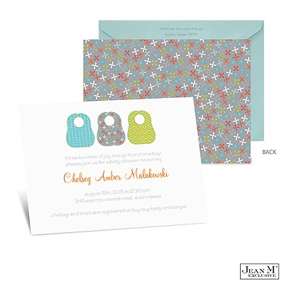 home occasions baby shower baby bibs baby shower invitation