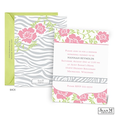 home occasions baby shower wild roses baby shower invitation