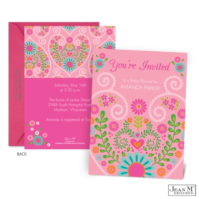 baby kids shower invitations floral sweetheart baby shower