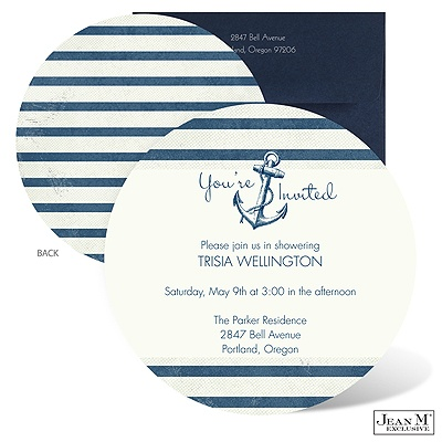 baby kids shower invitations nautical stripes baby shower