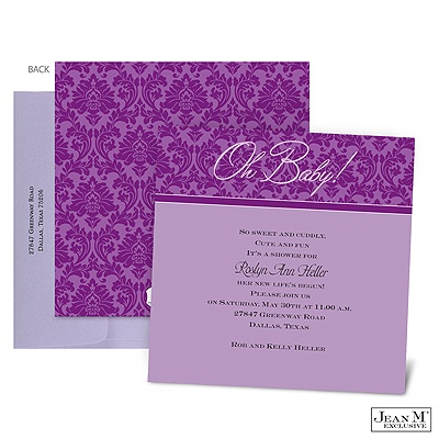 baby kids shower invitations shades of damask baby shower