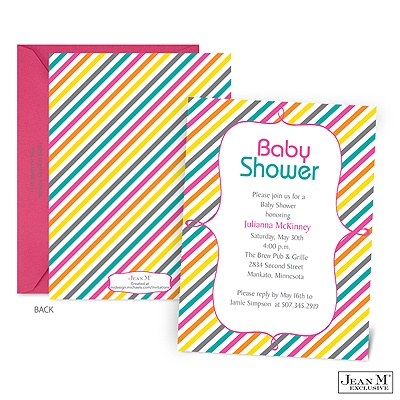 baby kids shower invitations sweetest stripes baby shower