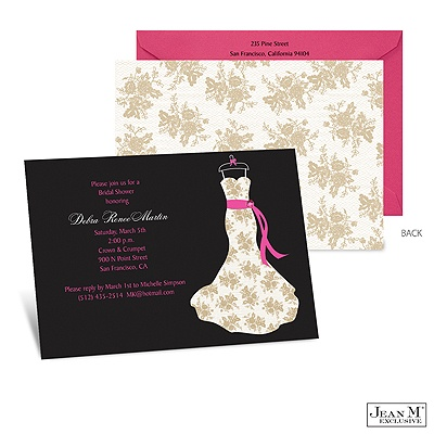 ... Shower & Party Invitations · Dress Silhouette Bridal Shower