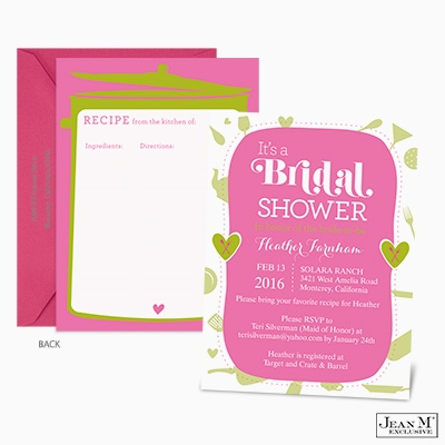 Wedding · Shower & Party Invitations · Recipe Card Bridal Shower ...