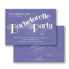Deco Typography Bachelorette Party Invitation - Lilac