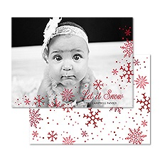 Let It Snow Foil Holiday Card