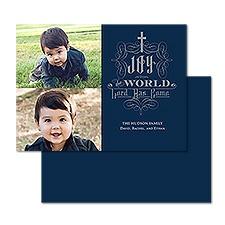 Shining Joy Foil Photo Holiday Card