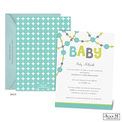 occasions baby shower dotted baby shower invitation lagoon