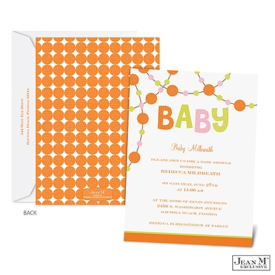 baby kids shower invitations dotted baby shower invitation