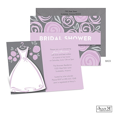 Wedding · Shower & Party Invitations · Purple Posies Bridal Shower ...