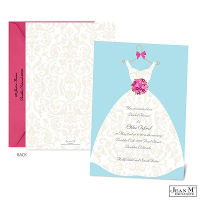 Wedding · Shower & Party Invitations · Damask Dress Bridal Shower ...