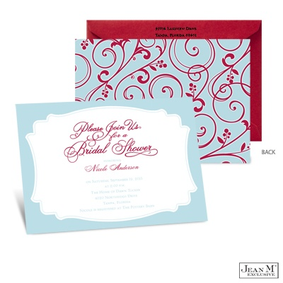 ... · Bridal Shower · Retro Flourishes Bridal Shower Invitation - Sea