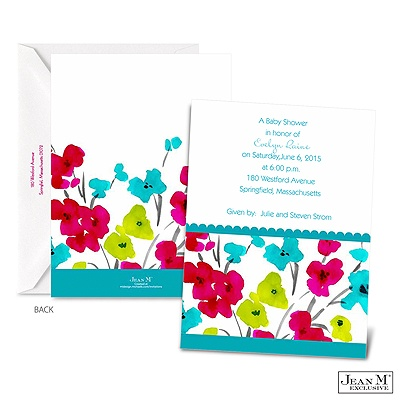 occasions baby shower blooming bright baby shower invitation