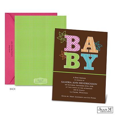 baby kids shower invitations sweet patterns baby shower