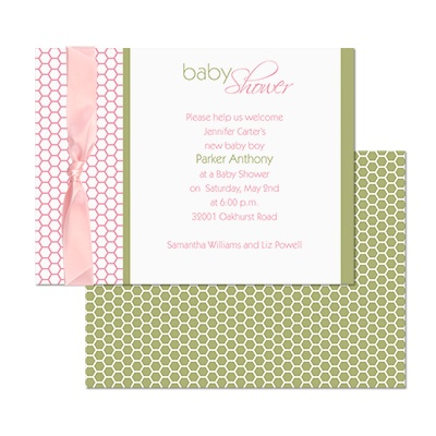home occasions baby shower honeycomb baby shower invitation
