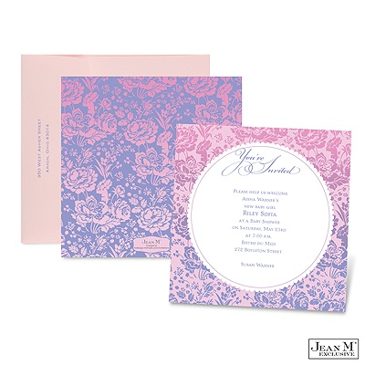 home baby kids shower invitations ombre roses baby shower