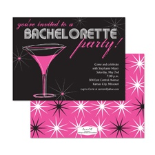 Swanky Stars Bachelorette Party Invitation