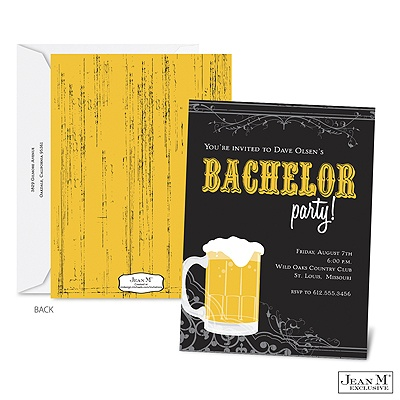 Shower amp party invitations 183 brewing up bachelor party invitation