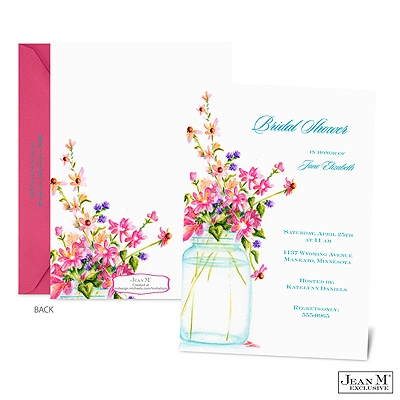 Wedding · Shower & Party Invitations · Jar of Flowers Bridal Shower ...